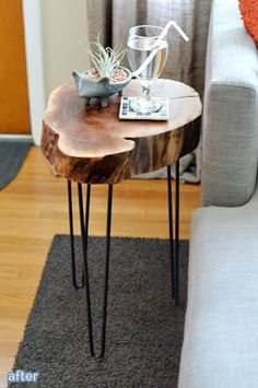 Tree Stump Table Ideas & How to Make Them Using recycled materials for DIY tree stump table?Using recycled materials for DIY tree stump table? Tree Trunk Table, Log Table, Table Cafe, Wood Stump Side Table, Dining Table, Log End Tables, Reclaimed Wood Side Table, Rustic Wood, Tree Stump Furniture