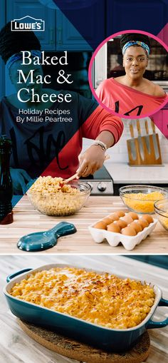 Perfect for the holidays, check out Chef Millie Peartree's mac and cheese recipe baked to perfection with Samsung!