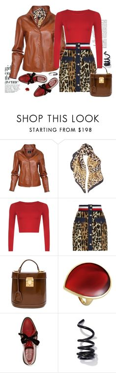 Cool-Girl Style: Leather Jackets by ysmn-pan on Polyvore featuring Hilfiger Collection, Marc by Marc Jacobs, Mark Cross, Proenza Schouler, Ippolita, Roberto Cavalli, Avenue, contest and leatherjackets