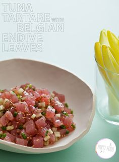 Tuna Tartare with Belgium Endive Leaves  So tasty looking and definitely nom-worthy. Cannot wait to try this recipe out.