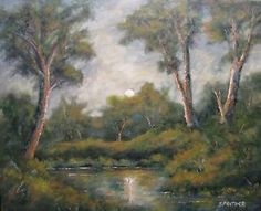 """original impressionism oil painting woodland sunrise 16 by 20 s prather 1185 - Categoria: Avisos Clasificados Gratis  Item Condition: not specified""""Woodland Sunrise""""An original landscape by artist S PratherPainted in oil on a 16 inch by 20 inch canvas panelSold unframedSigned by the artistBuy more than one painting and save with combined shippingColors and brightness in picture may vary slightly from original because of the difference in monitorsCheck out myfor other landscapeseascape oil…"""