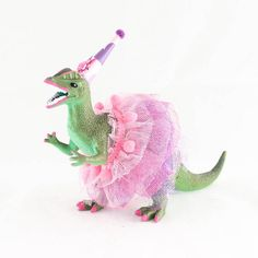Custom Party Dilophosaurus with Tutu - painted birthday decor Girl Dinosaur Birthday, Dragon Birthday, Dragon Party, Dinosaur Party, Third Birthday, 3rd Birthday Parties, Birthday Fun, Party Animals, Animal Party