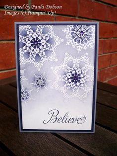 "BELIEVE RESIST **** SU ""Snowflake Soiree"", 2012 Holiday Mini."