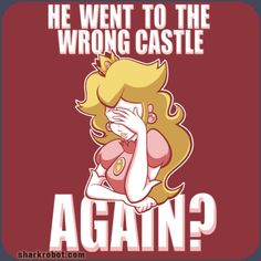 He Went To The Wrong Castle Again? from SharkRobot. Get it right, Mario.