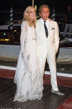 9/2/16*Wowing in white:Franca Sozzani and Valentino Garavani were sartorially in sync on the night