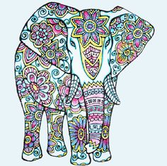 Adult Elephant Coloring Page Inspirational Adult Coloring Page original Hand Drawn Art In Black and Mandalas Drawing, Mandala Coloring Pages, Coloring Pages To Print, Adult Coloring Pages, Coloring Books, Elephant Colour, Elephant Love, Elephant Art, Giraffes