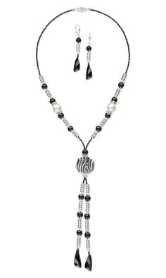 Jewelry Design - Single-Strand Necklace and Earring Set with Swarovski Crystal, Silver-Plated Brass Beads and Glass Bead - Fire Mountain Gems and Beads
