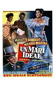 An Ideal Husband, also known as Oscar Wilde's An Ideal Husband, is a 1947 film Technicolor adaptation of the play by Oscar Wilde. It was made by London Film Productions and distributed by British Lion Films (UK) and Twentieth Century-Fox Film Corporation (USA). It was produced and directed by Alexander Korda from a screenplay by Lajos Biró from Wilde's play. The film stars Paulette Goddard, Michael Wilding, Diana Wynyard, Hugh Williams, C. Aubrey Smith, Glynis Johns and Constance Collier.