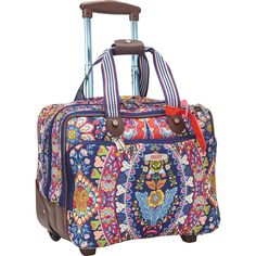 Buy the Oilily Travel Office Bag On Wheels at eBags - Add color and personal style to your travel routine with this allover print roller bag from Oilily. Travel Purse, Travel Backpack, Travel Bags, Carry On Luggage, Travel Luggage, Luggage Bags, Handbags On Sale, Purses And Handbags, Travel Office