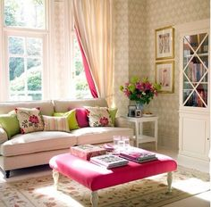 #pink # flowery #white #couch #awesome