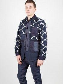 Junya Watanabe Man Patchwork Printed Cotton Jacket