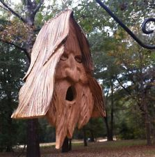 Wood Spirit Unique Old Man rustic Hand Carved Cedar Bird House'''