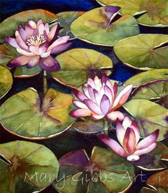 lotus, watercolor by Mary Gibbs