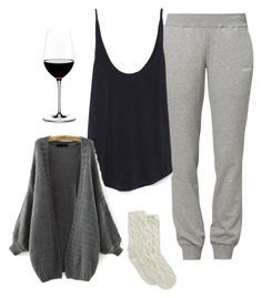 """Snuggle time"" by nikke9doors ❤ liked on Polyvore featuring Reebok, Zara, Riedel and Lemon"