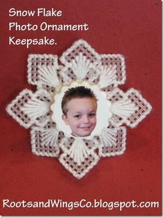 plastic canvas snowflake ornament