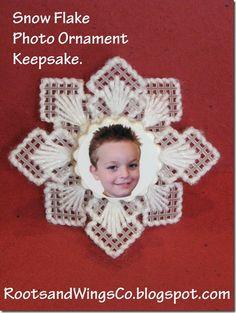plastic canvas snowflake ornament