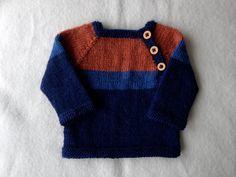 hand knit toddler sweater with button closure