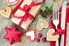 Christmas tabeli ustawienie z christmas dekoracje A Gingerbre  #pixersgift