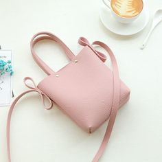 Women PU Leather  Candy Color Small Handbag Phone Bag Shoulder Bag Crossbody Bag