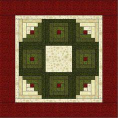 Log Cabin Wreath Quilt Pattern