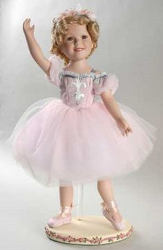 Beautiful Danbury Mint Shirley Temple Ballerina Porcelain Doll MIB