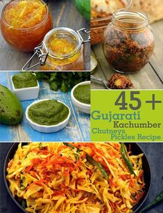 Gujarati Kachumber Recipes, Chutneys and Achar Recipes Gujarati Cuisine, Gujarati Recipes, Gujarati Food, Easy Indian Recipes, Asian Recipes, Veg Recipes, Cooking Recipes, Cooking Tips, Dessert Recipes