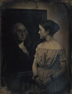 Southworth & Hawes (Albert Sands Southworth [American] and Josiah Johnson Hawes [American), Boston: Young Girl with Portrait of George Washington (37.14.53) | Heilbrunn Timeline of Art History | The Metropolitan Museum of Art