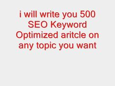 mazinhofz33: write a 500 word article for you on any topic you want promoting your site for $5, on fiverr.com