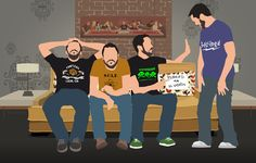 I should reallyget out more.: Wil Wheaton on the Couch - Tabletop Season 2 Illustration