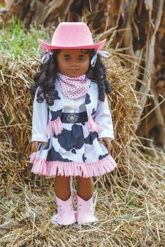 Doll Costume Dress Up as seen on Sewing With Nancy Zieman Dress up is fun for all ages, in particular for kids! Rather than sewing a full-sized costume, sew doll clothes for dolls—a wonderful way to nurture ima American Girl Outfits, American Doll Clothes, Baby Doll Clothes, American Girls, Doll Sewing Patterns, Doll Dress Patterns, Sewing Dolls, Clothing Patterns, Pattern Sewing
