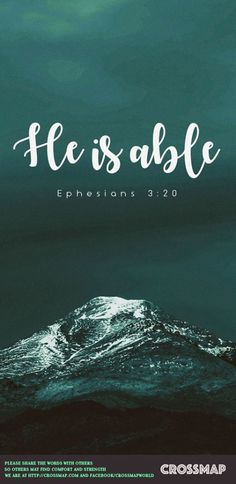 Ephesians 3:20 (NAS) Now to Him who is able to do far more abundantly beyond all that we ask or think, according to the power that works within us,   https://www.facebook.com/iBibleVerses/photos/1398672103519344