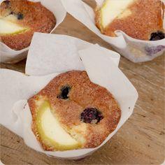Muffin de Mirtilo e Maçã Verde | Vídeos e Receitas de Sobremesas