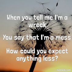 Tell Me Im A Wreck- Every Avenue  @Arden Anderson - i think you'd like this song as well. (: