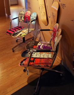 thinking Edward would like these skateboard chairs