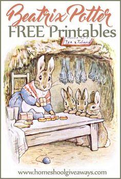 Beatrix Potter FREE Printables | Homeschool Giveaways
