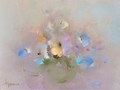 Живописец Виталий Трубанов (Vitaly Trubanov) передает нежность лепестков цветов ощущением акварельности, хотя по технике это масляная живопись.