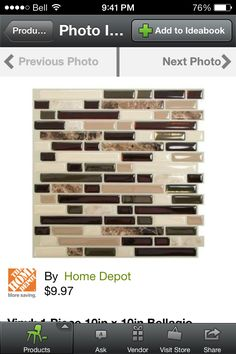 DIY smart tiles backsplash :) cheaper, easier and removable!!
