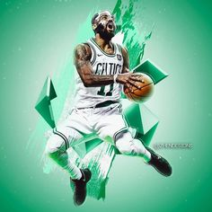 """483 Likes, 23 Comments - @ghostmemes_ on Instagram: """"Kyrie Irving Boston Celtics artwork. What will be Boston's record next season?"""""""