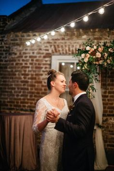 bride and groom // charleston wedding // upstairs at midtown // cana dunlap photo