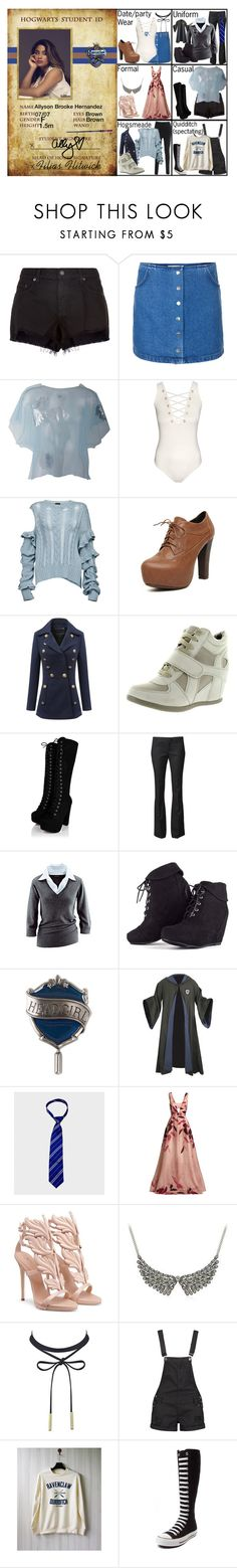 """Ally Brooke in Ravencaw (HP)"" by elmoakepoke ❤ liked on Polyvore featuring rag & bone, Topshop, MSGM, H&M, Magda Butrym, WithChic, Top Moda, Band of Outsiders, MARA and Universal"