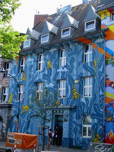 Graffiti art at Kiefernstraße #Düsseldorf, Germany #travel