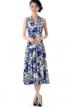 Silky Smooth Classic Dress (Mountain Flowers)