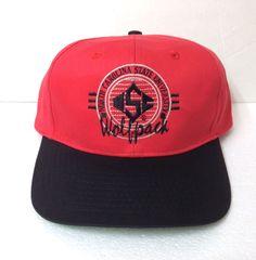 2d443364937830 Rare vtg 90s NC STATE WOLFPACK SNAPBACK HAT Men/Women Red Black Retro  Script Cap
