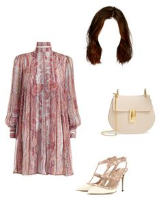 """""""Untitled #1047"""" by aracely-munoz on Polyvore featuring Zimmermann, Valentino and Chloé"""