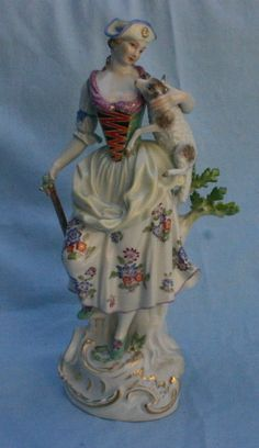 Hands Away Clever Large Vintage Pin Cushion Porcelain Half Doll Made In Germany We Take Customers As Our Gods