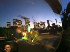 convex warp Sydney twilight