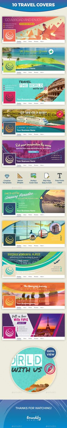 Travel Facebook Cover Template PSD. Download here: http://graphicriver.net/item/travel-facebook-cover/16554106?ref=ksioks