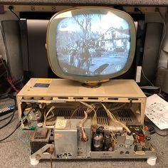 A customer brought in this old TV to be fixed. We thought it'd be fun to play Fallout on a Fallout-style TV!