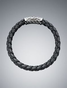 David Yurman Men's 8mm Rubber Weave Bracelet, $325