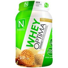 Nutrakey Whey Optima - Whey Protein - Vanilla Ice Cream Cookie - 30 Servings by Nutrakey Whey Protein Isolate, Whey Protein Powder, Burn Fat Build Muscle, Whey Protein Concentrate, Chocolate Lava Cake, Ice Cream Cookies, Protein Cookies, Lava Cakes, Mountain Dew